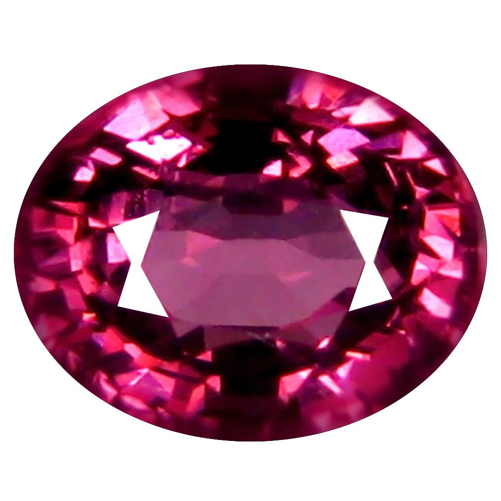1.08 ct AAA+ Terrific Oval Shape (6 x 5 mm) Pinkish Red Rhodolite Garnet Natural Gemstone