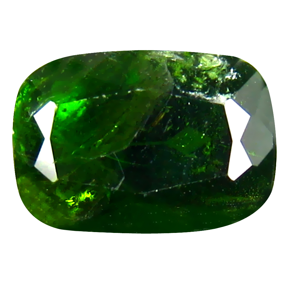 3.34 ct  Astonishing Cushion Shape (10 x 7 mm) Green Chrome Diopside Natural Gemstone
