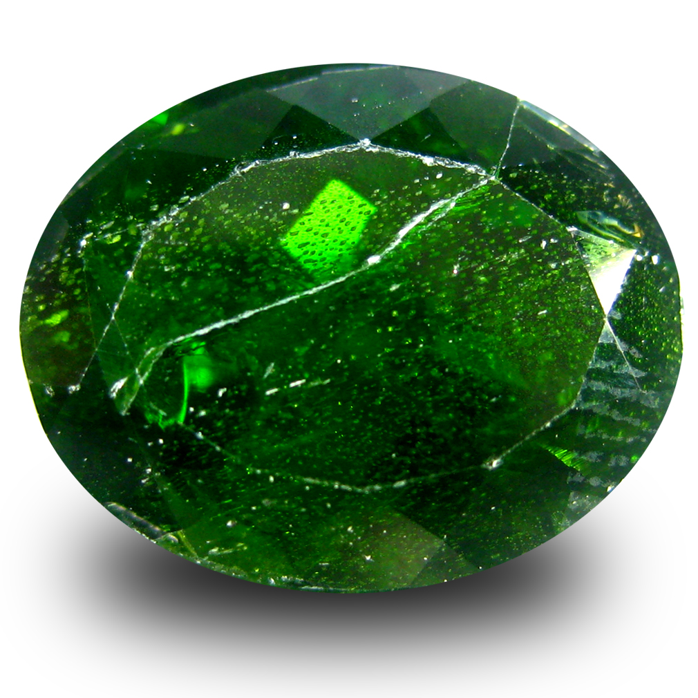 8.06 ct  Charming Oval Shape (14 x 11 mm) Green Chrome Diopside Natural Gemstone