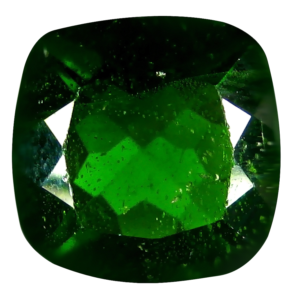 3.12 ct AAA Awe-inspiring Cushion Shape (9 x 9 mm) Green Chrome Diopside Natural Gemstone