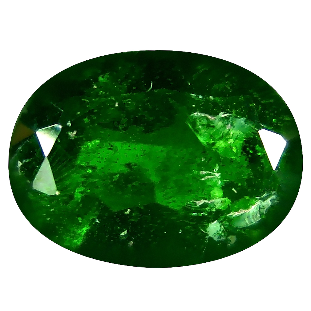 7.15 ct AAA Romantic Oval Shape (13 x 10 mm) Green Chrome Diopside Natural Gemstone