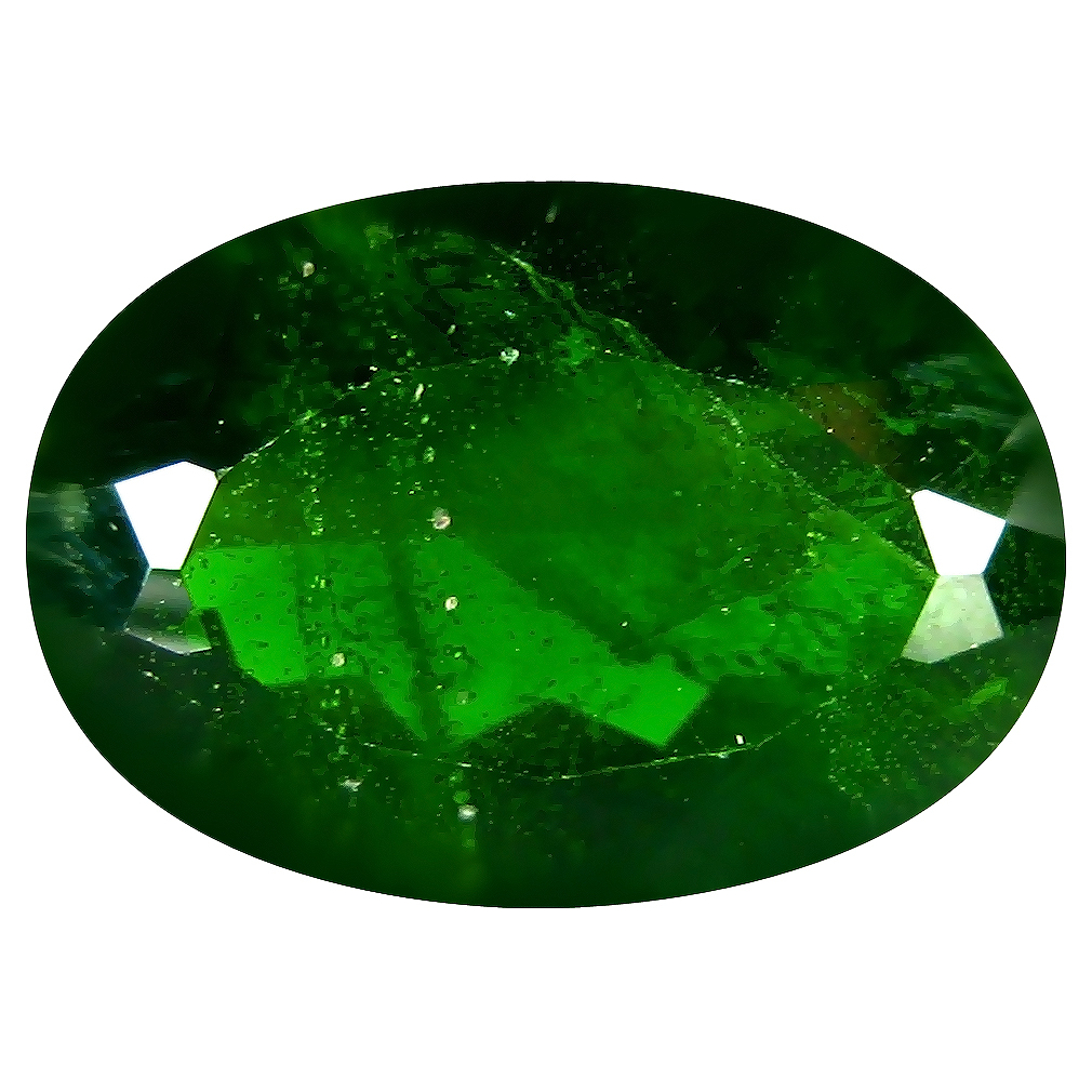 6.21 ct AAA Premium Oval Shape (14 x 10 mm) Green Chrome Diopside Natural Gemstone