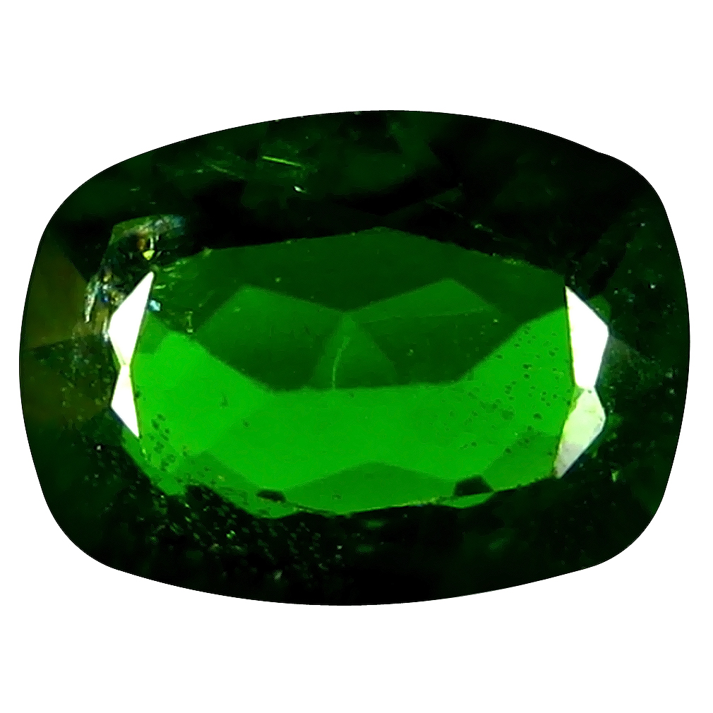 1.21 ct AAA+ Mesmerizing Cushion Shape (8 x 6 mm) Green Chrome Diopside Natural Gemstone
