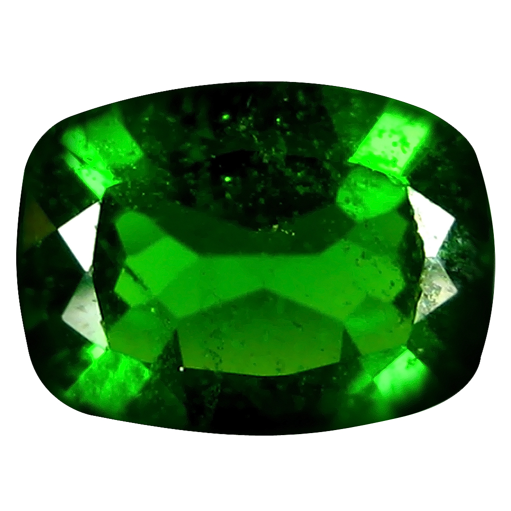 1.26 ct AAA+ Incredible Cushion Shape (8 x 6 mm) Green Chrome Diopside Natural Gemstone