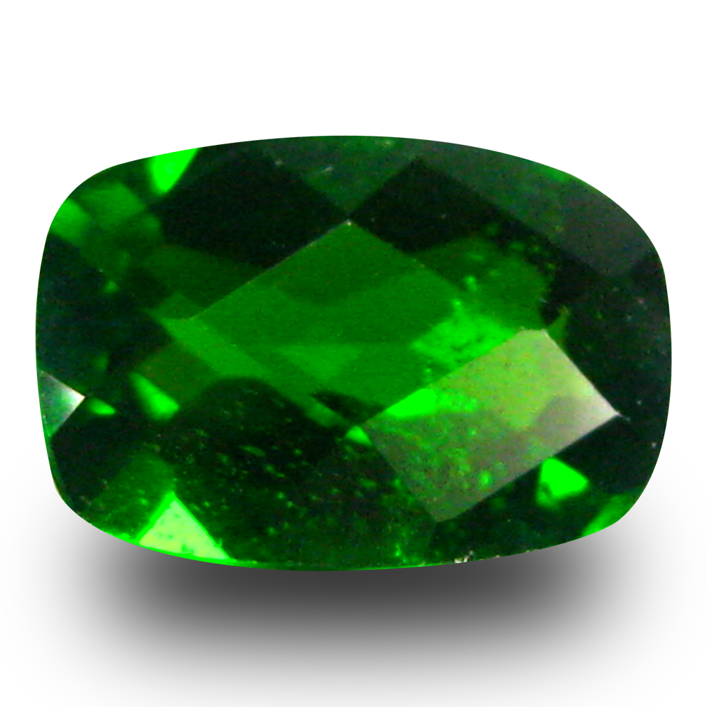 1.22 ct AAA+ Exquisite Cushion Shape (8 x 6 mm) Green Chrome Diopside Natural Gemstone