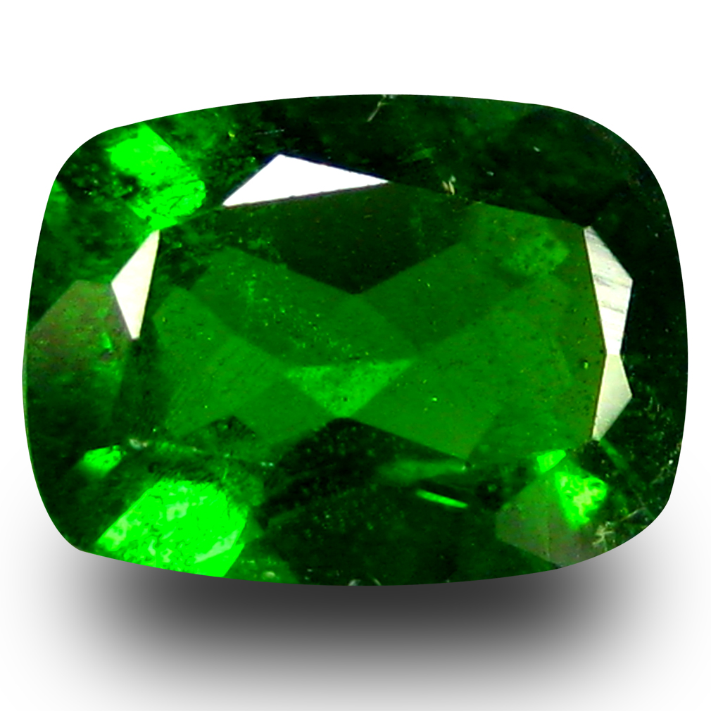1.23 ct AAA+ Spectacular Cushion Shape (8 x 6 mm) Green Chrome Diopside Natural Gemstone
