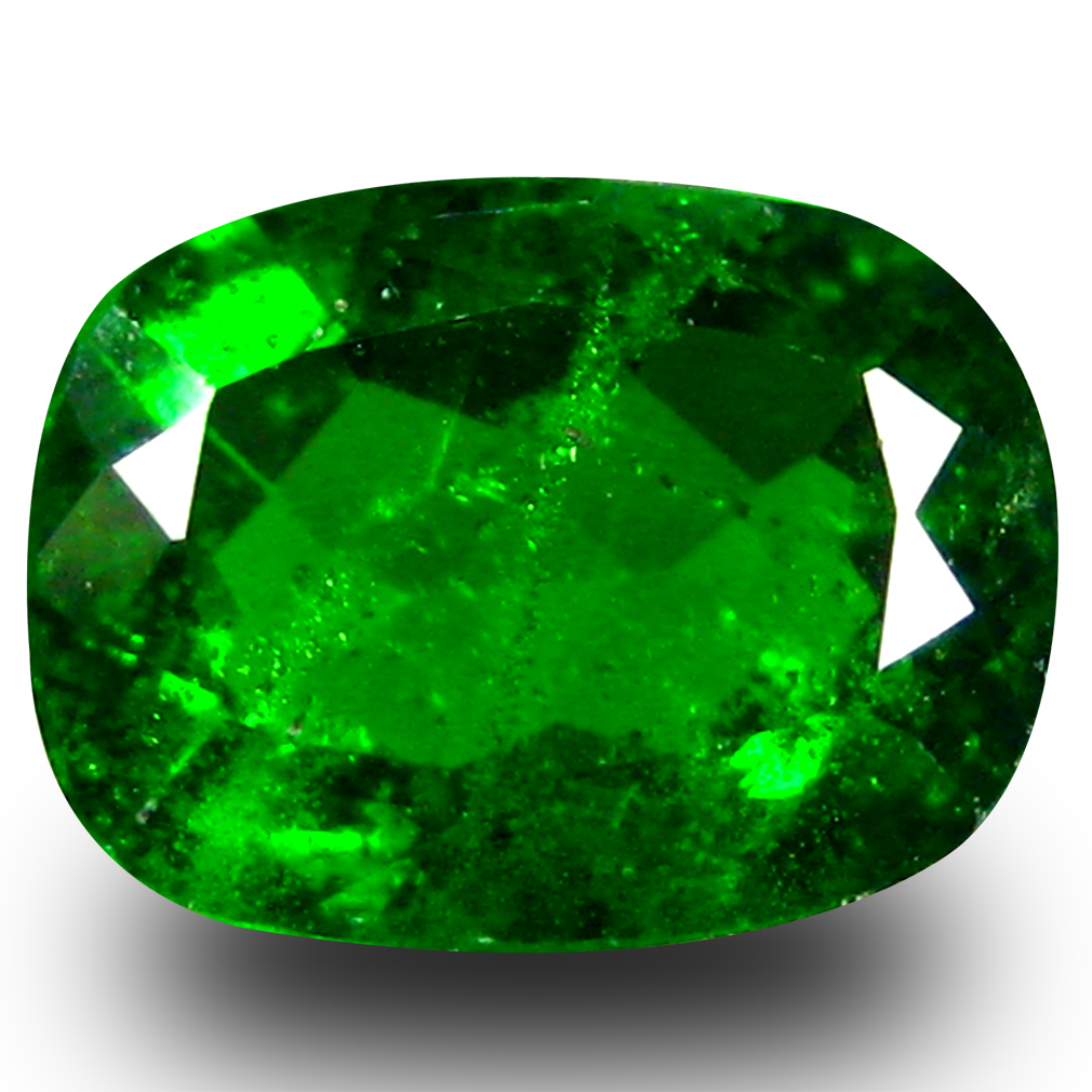 1.35 ct AAA+ Resplendent Cushion Shape (8 x 6 mm) Green Chrome Diopside Natural Gemstone