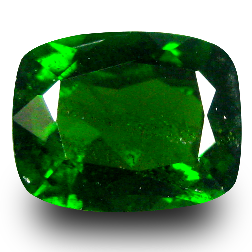 1.85 ct AAA+ Great looking Cushion Shape (8 x 6 mm) Green Chrome Diopside Natural Gemstone
