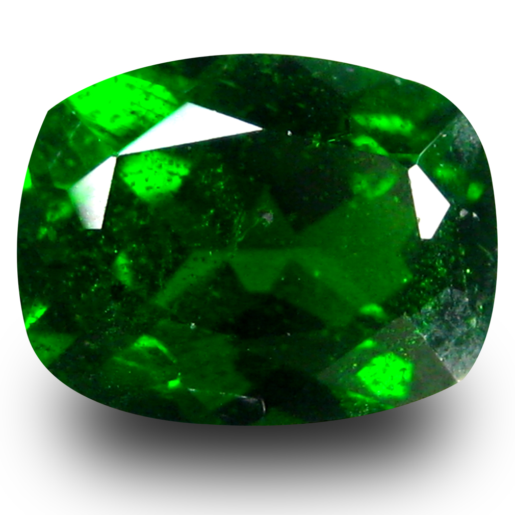 1.48 ct AAA+ Significant Cushion Shape (6 x 6 mm) Green Chrome Diopside Natural Gemstone