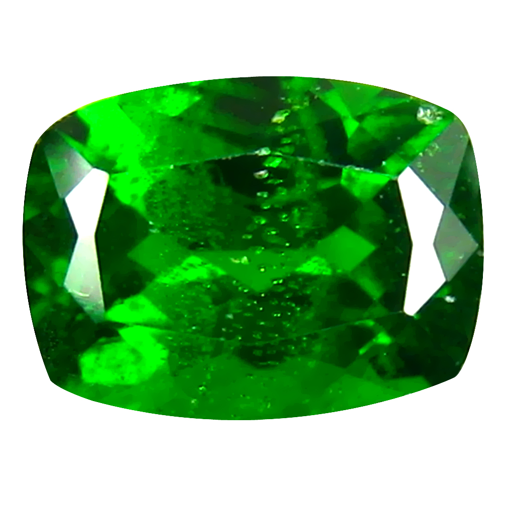 1.77 ct AAA+ First-class Cushion Shape (8 x 6 mm) Green Chrome Diopside Natural Gemstone