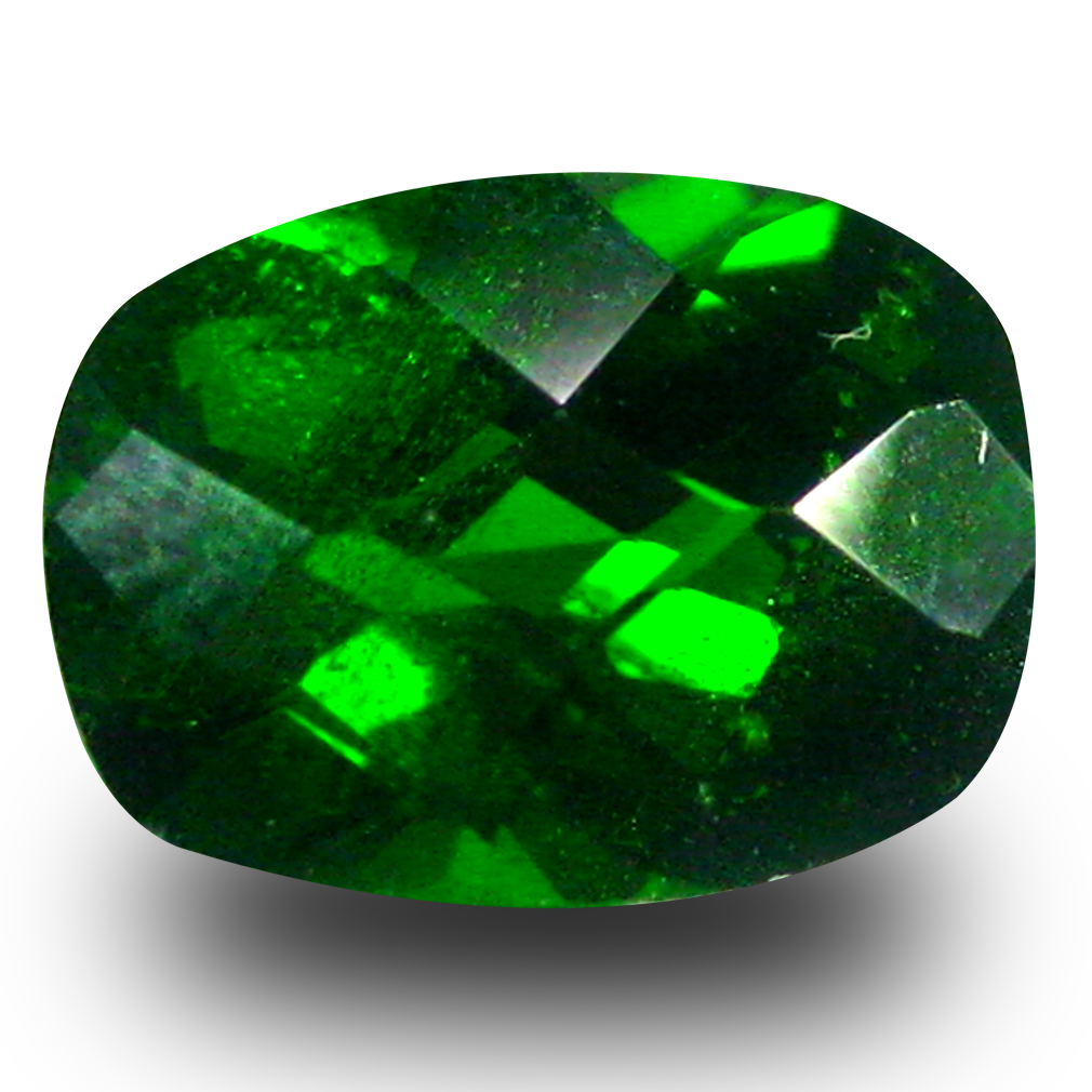 1.42 ct AAA+ Pretty Cushion Shape (8 x 6 mm) Green Chrome Diopside Natural Gemstone