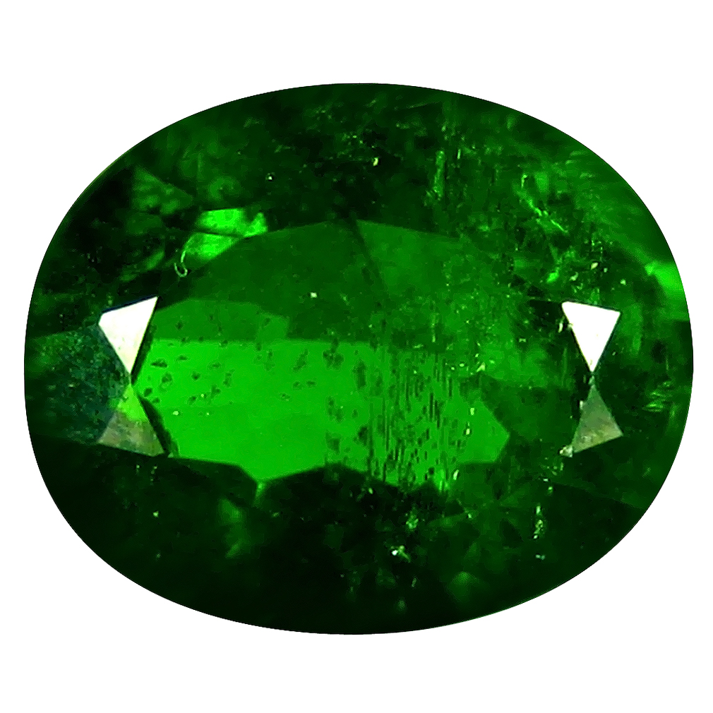 3.24 ct AAA Charming Oval Shape (11 x 9 mm) Green Chrome Diopside Natural Gemstone