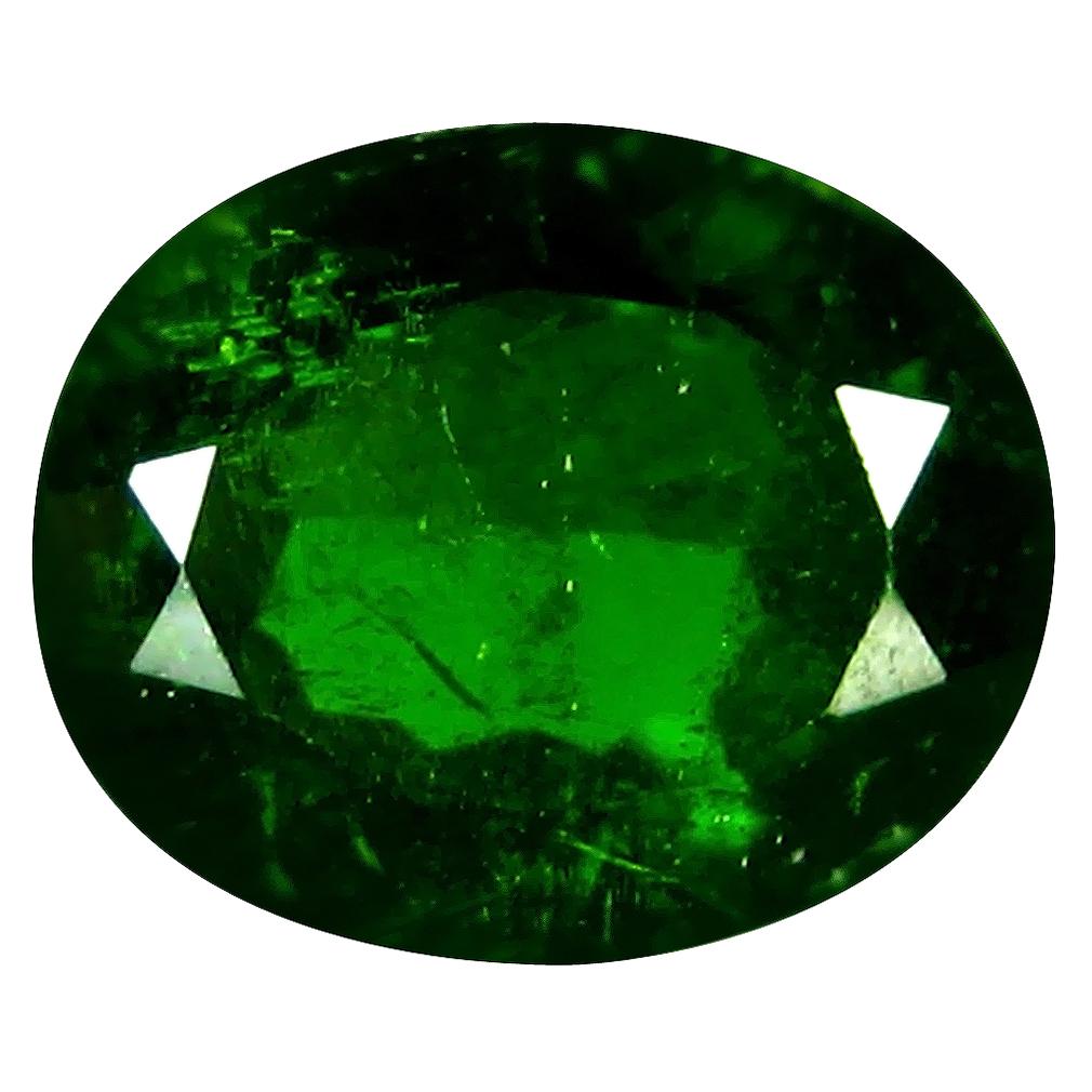 3.53 ct AAA Astonishing Oval Shape (11 x 9 mm) Green Chrome Diopside Natural Gemstone