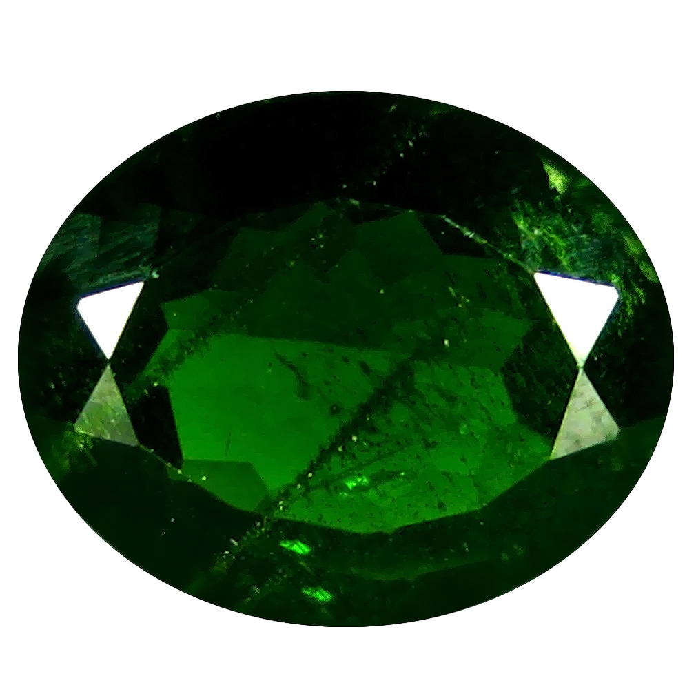 2.98 ct AAA Dazzling Oval Shape (11 x 9 mm) Green Chrome Diopside Natural Gemstone