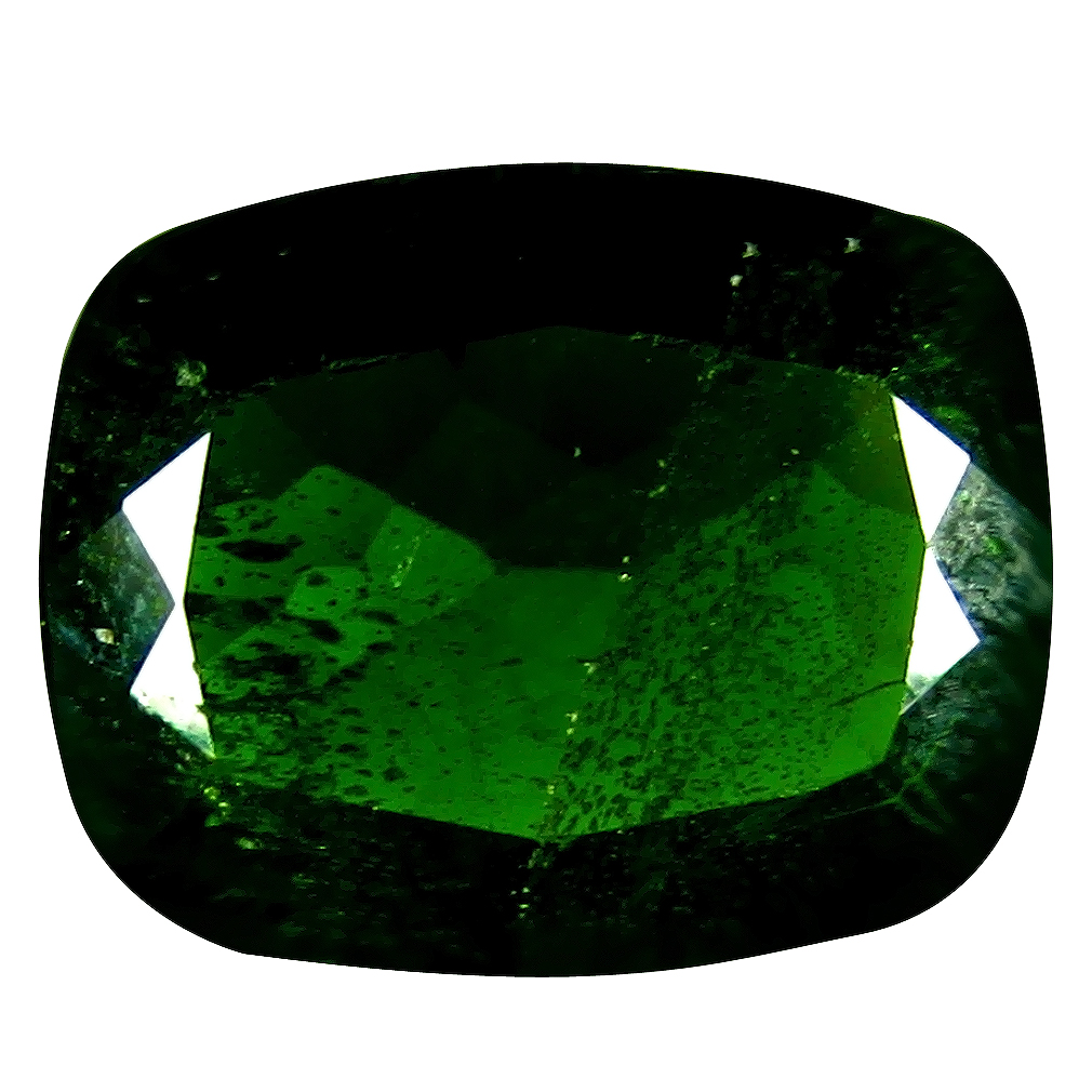 3.11 ct AAA Exquisite Cushion Shape (11 x 9 mm) Green Chrome Diopside Natural Gemstone