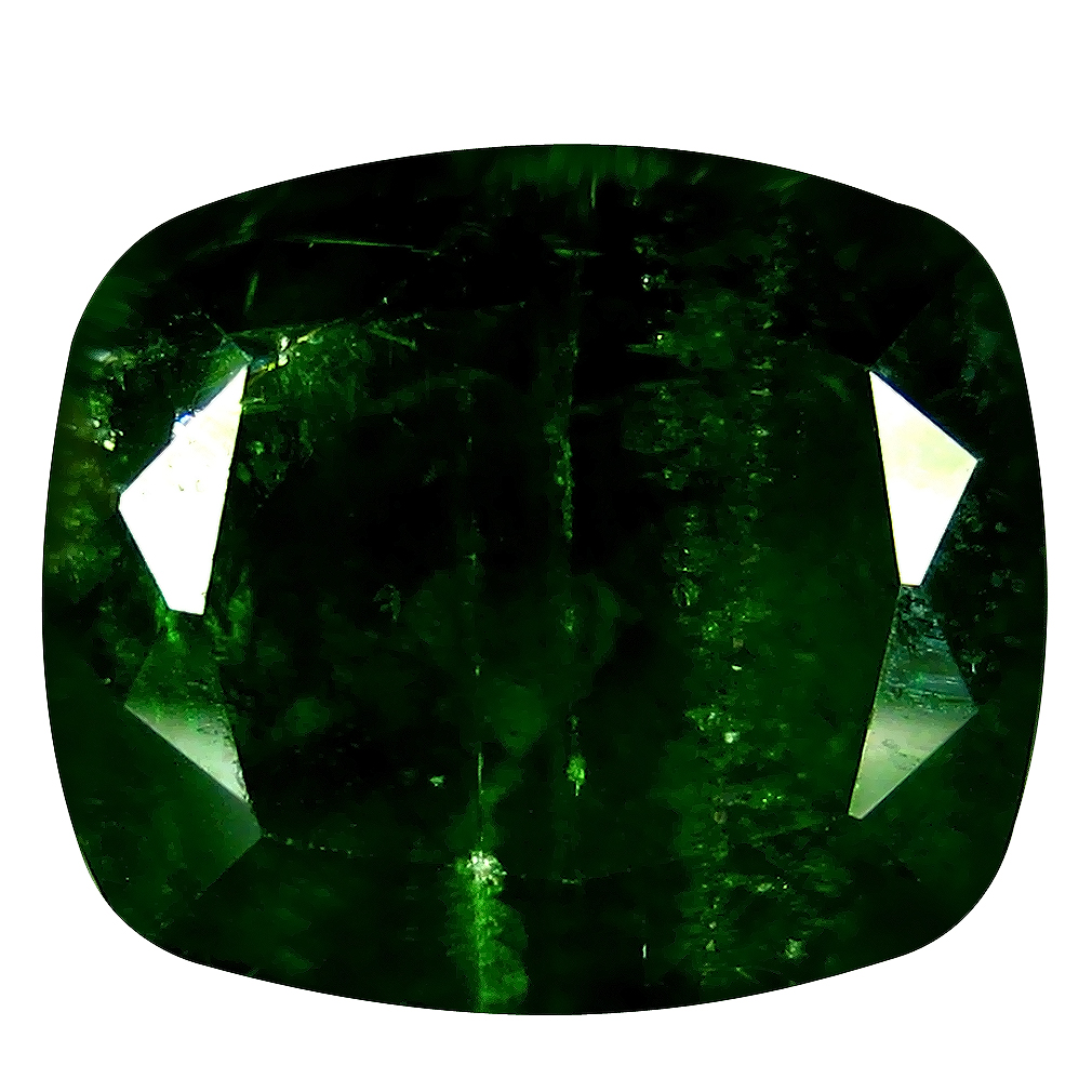 4.78 ct AAA Outstanding Cushion Shape (11 x 9 mm) Green Chrome Diopside Natural Gemstone