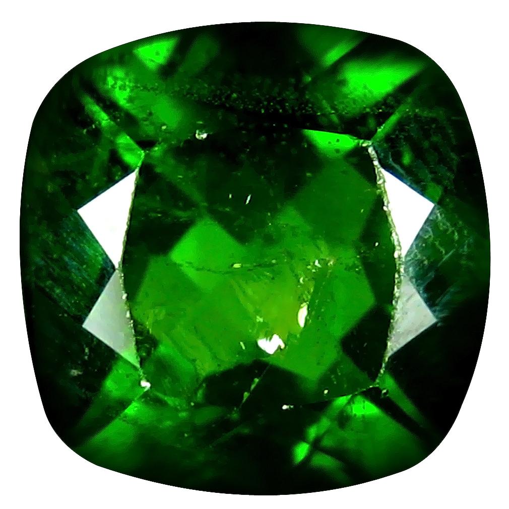 2.44 ct AAA Pretty Cushion Shape (8 x 8 mm) Green Chrome Diopside Natural Gemstone