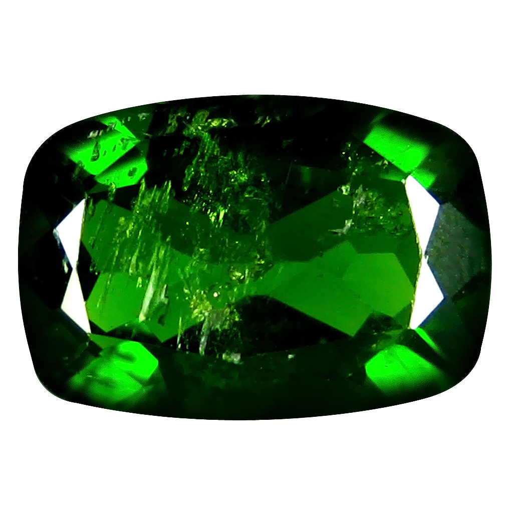 1.52 ct AAA Supreme Cushion Shape (9 x 6 mm) Green Chrome Diopside Natural Gemstone