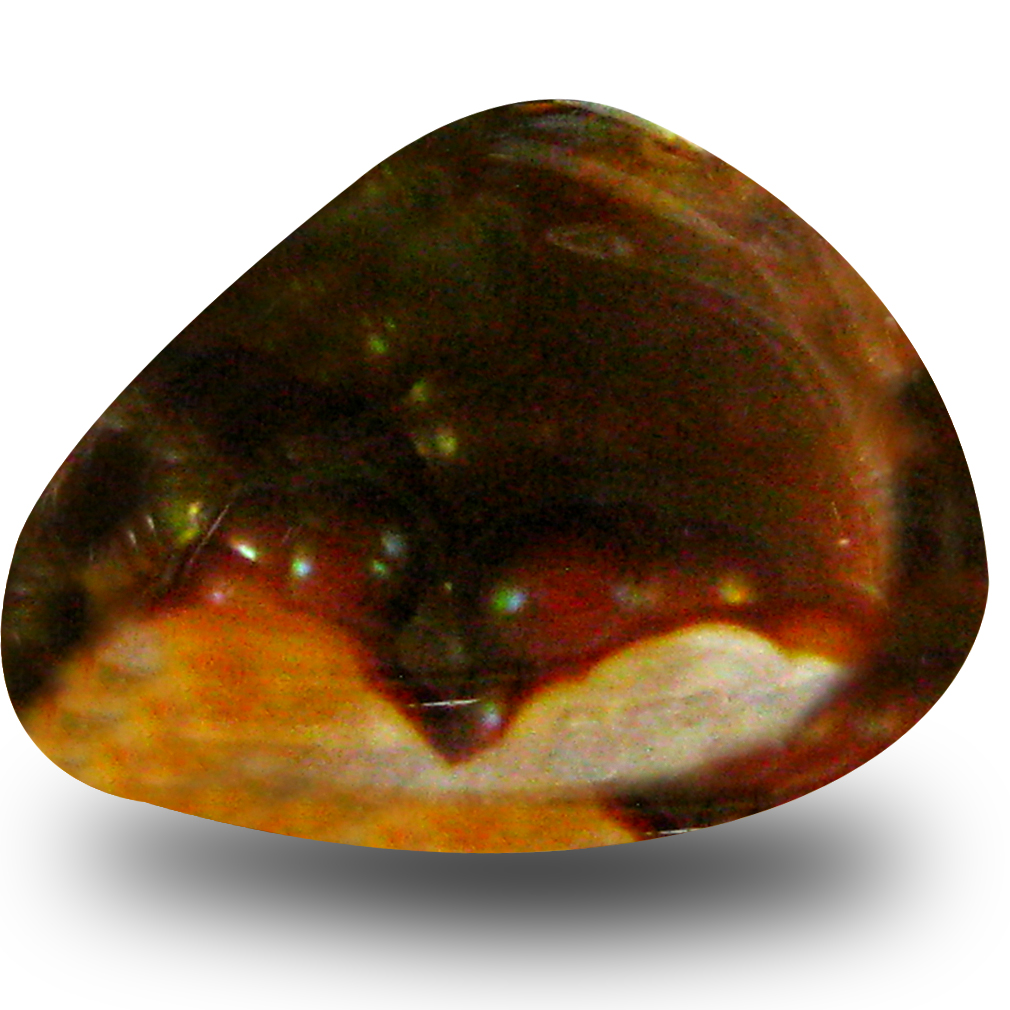 5.27 ct AAA Shimmering Fancy Shape (15 x 12 mm) Multi Color Fire Agate Natural Gemstone