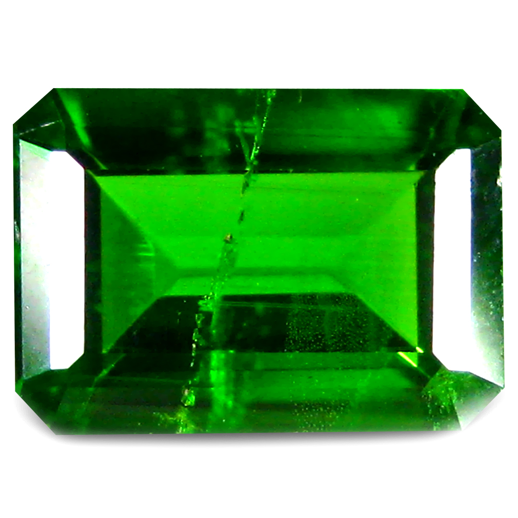 0.85 ct  Romantic Octagon Shape (7 x 5 mm) Green Chrome Diopside Natural Gemstone