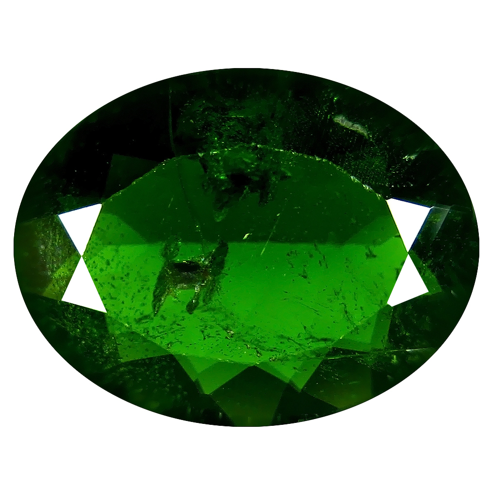 4.49 ct  Gorgeous Oval Shape (13 x 10 mm) Green Chrome Diopside Natural Gemstone