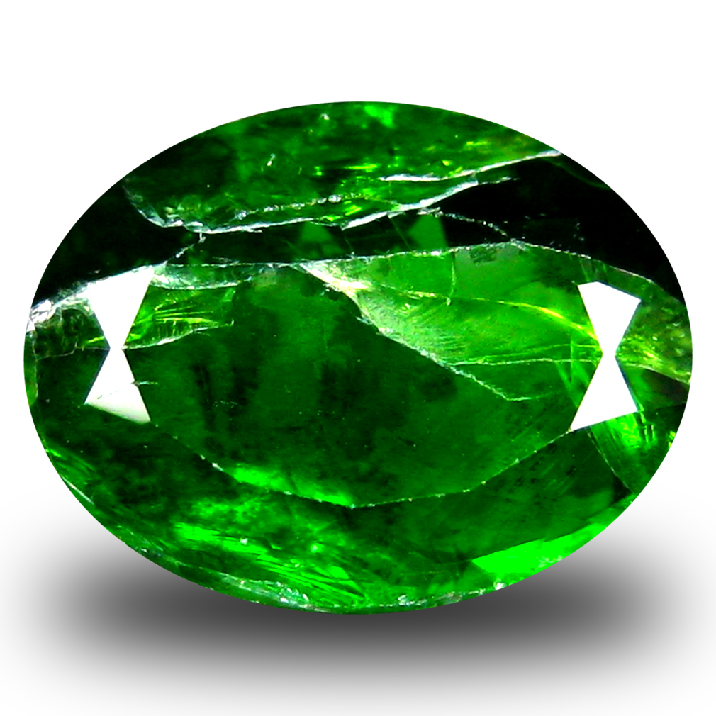 4.53 ct  Incredible Oval Shape (12 x 9 mm) Green Chrome Diopside Natural Gemstone