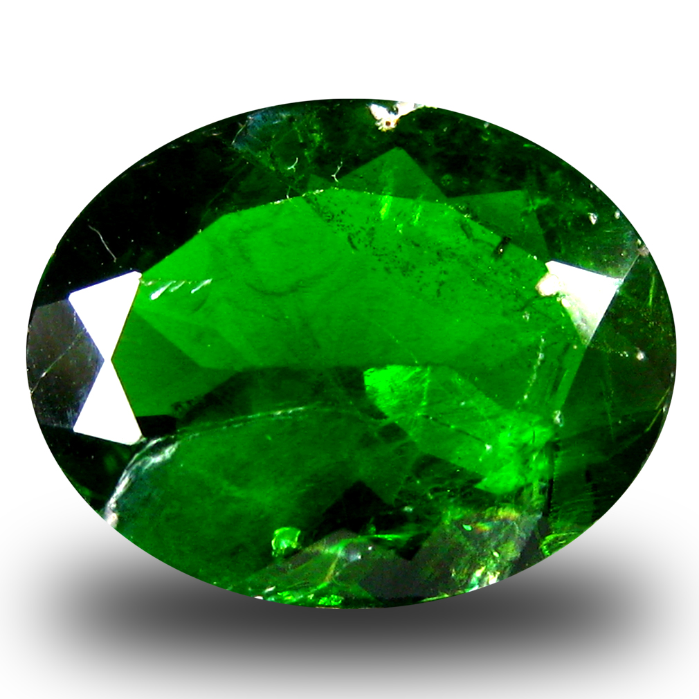 3.93 ct  Incredible Oval Shape (12 x 10 mm) Green Chrome Diopside Natural Gemstone