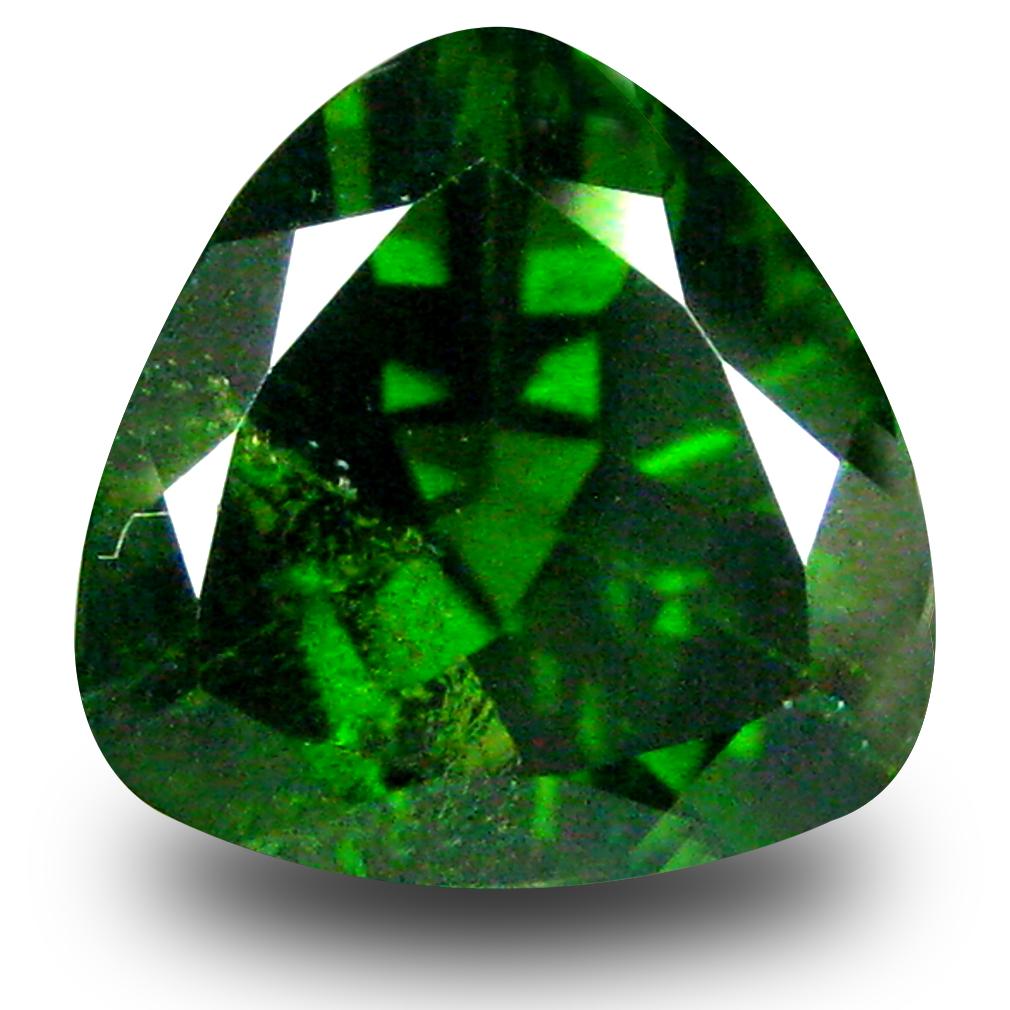 2.89 ct  Impressive Trillion Shape (9 x 9 mm) Green Chrome Diopside Natural Gemstone