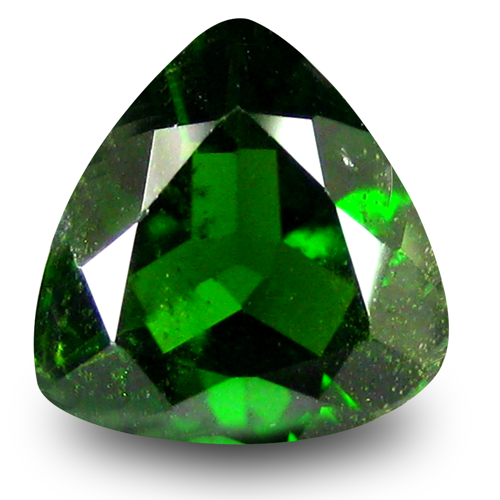 2.13 ct  Pleasant Trillion Shape (9 x 9 mm) Green Chrome Diopside Natural Gemstone