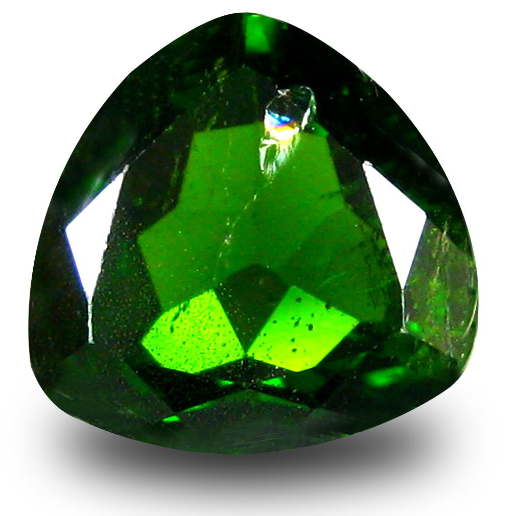 2.54 ct  Impressive Trillion Shape (9 x 9 mm) Green Chrome Diopside Natural Gemstone