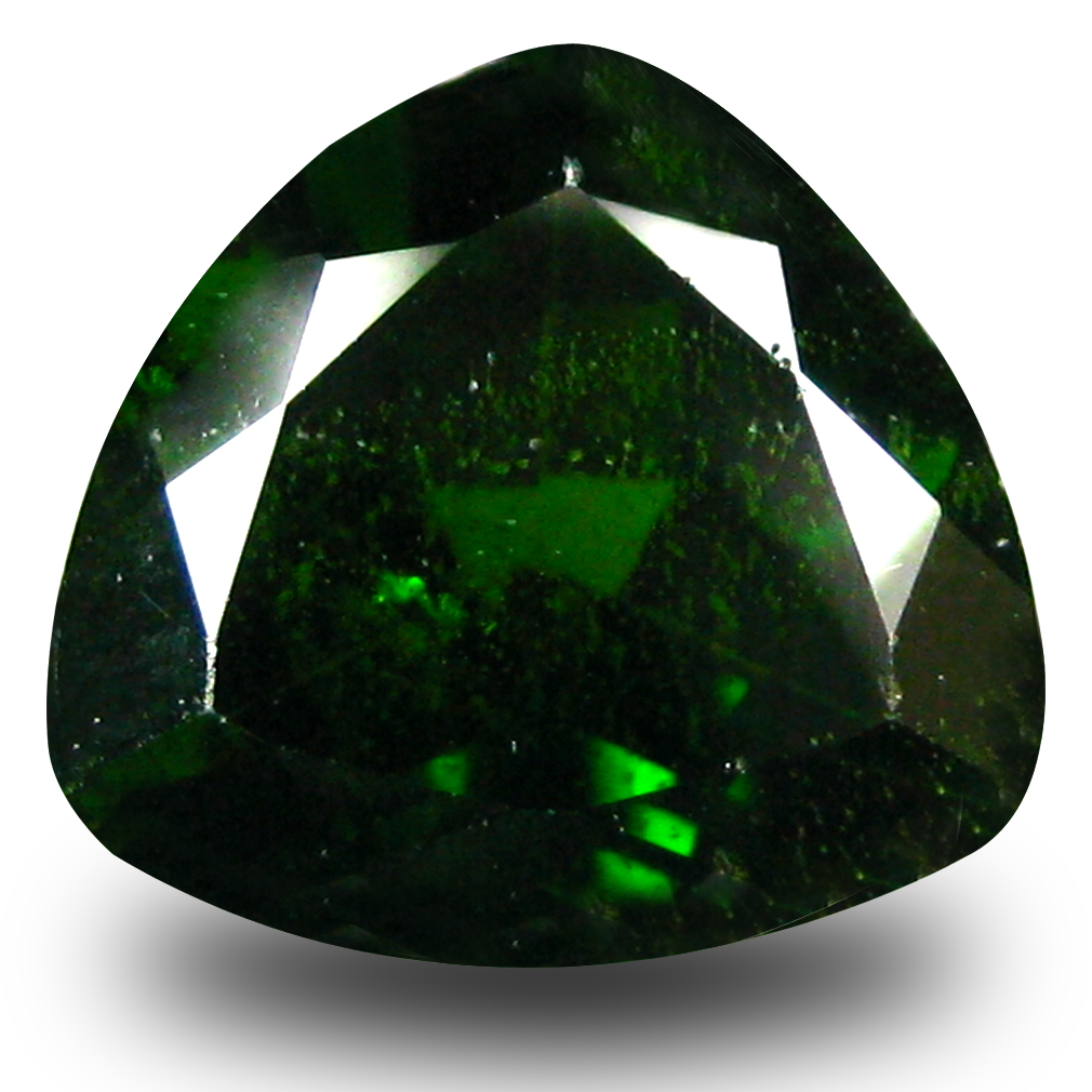 2.75 ct  Five-star Trillion Shape (9 x 9 mm) Green Chrome Diopside Natural Gemstone
