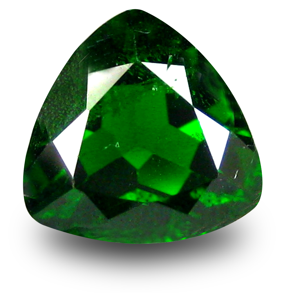 2.41 ct  Astonishing Trillion Shape (9 x 9 mm) Green Chrome Diopside Natural Gemstone