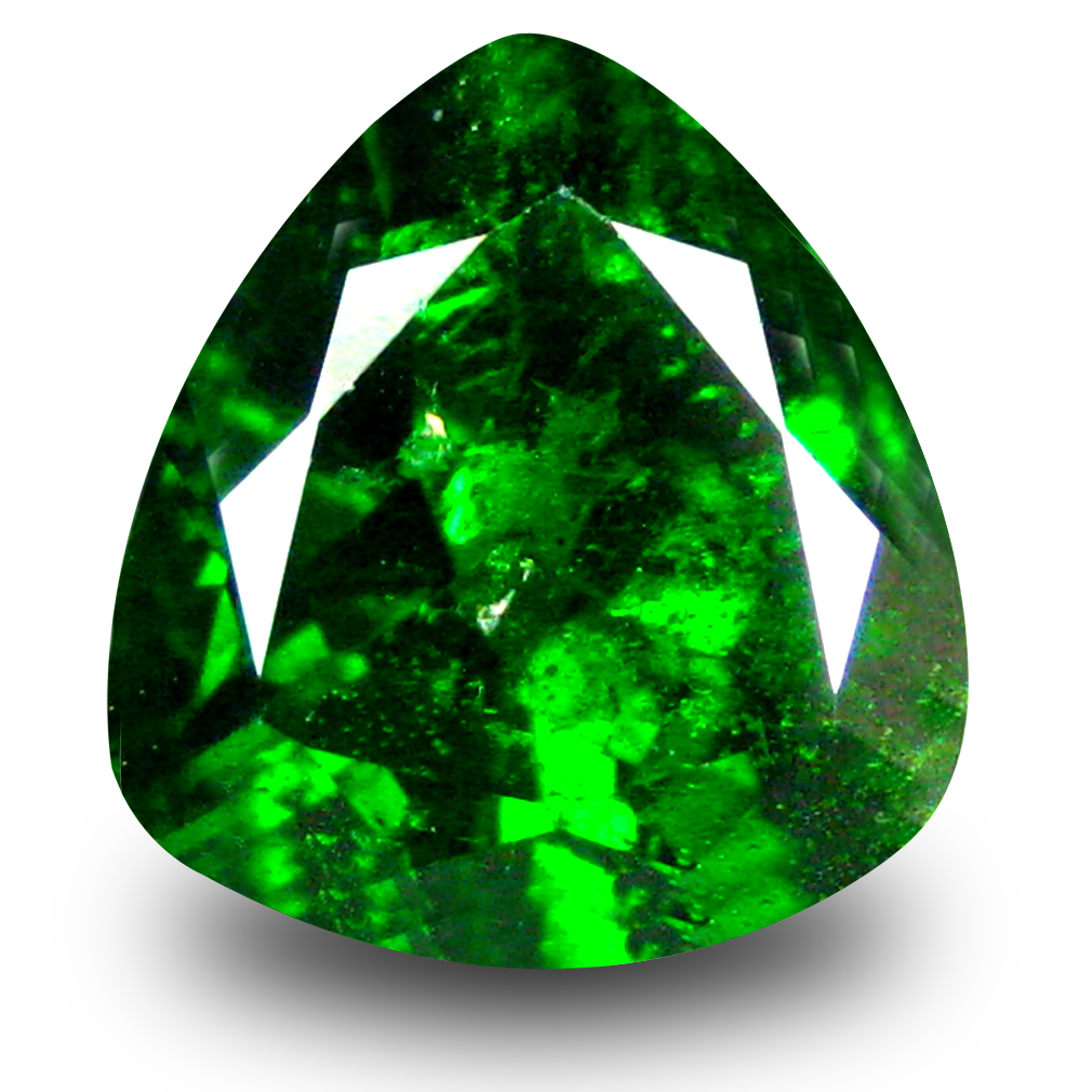 2.59 ct  Astonishing Trillion Shape (9 x 9 mm) Green Chrome Diopside Natural Gemstone