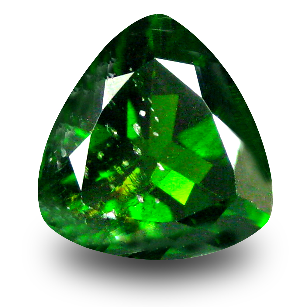 2.47 ct  Unbelievable Trillion Shape (9 x 9 mm) Green Chrome Diopside Natural Gemstone
