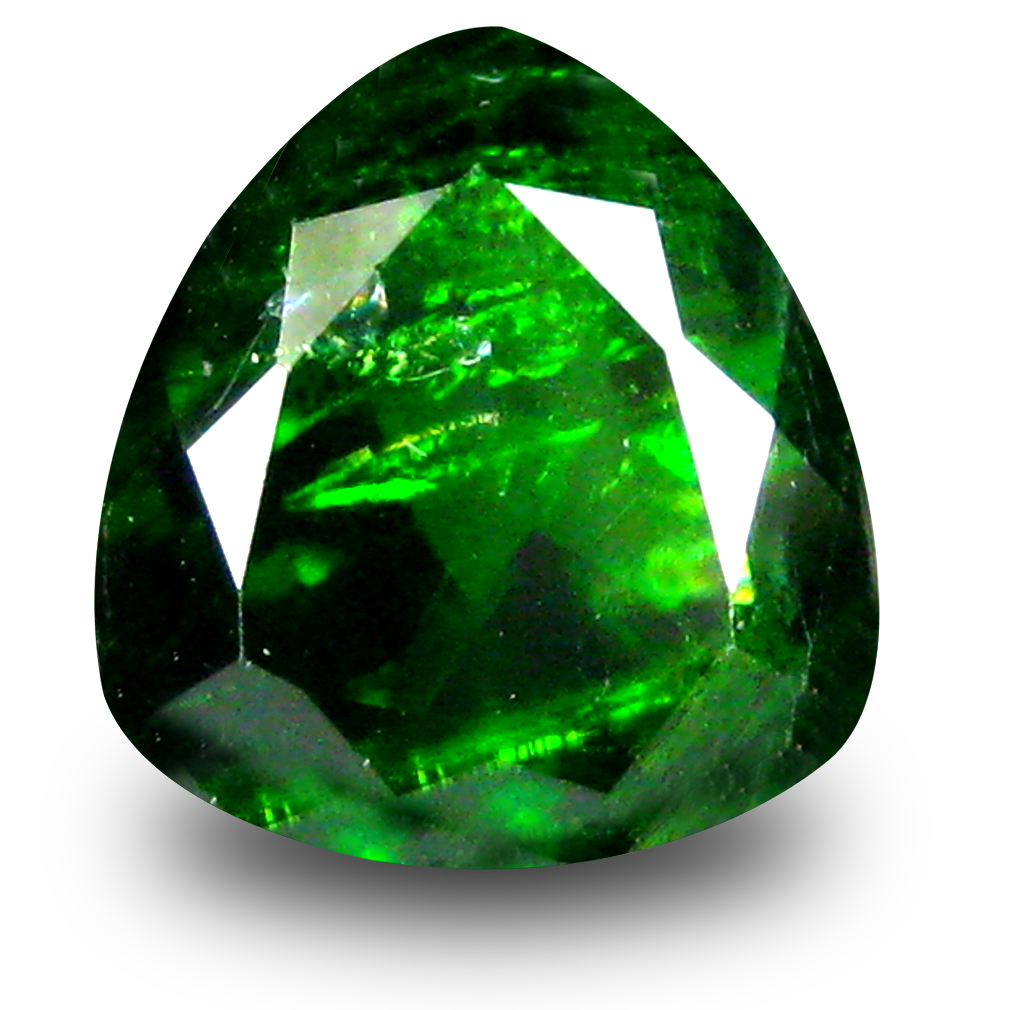 2.78 ct  Tremendous Trillion Shape (9 x 9 mm) Green Chrome Diopside Natural Gemstone