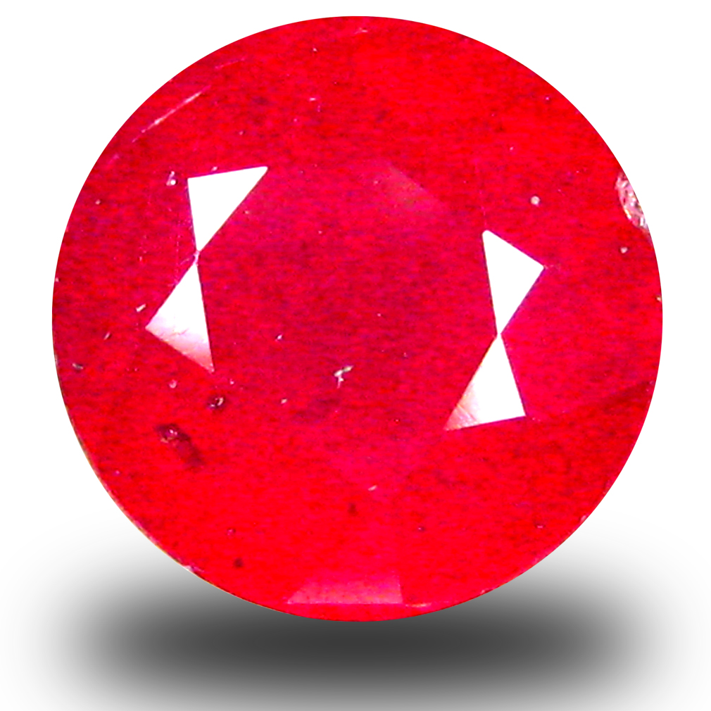 3.17 ct Good-looking AAA Grade VVS Clarity 8 mm Round Cut Red Ruby Natural Gemstone
