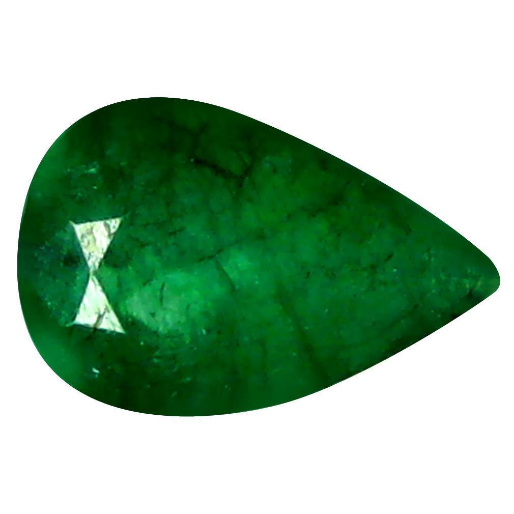 0.37 ct Impressive Pear Cut (6 x 4 mm) Green 100% Natural (Un-Heated) Emerald Natural Gemstone