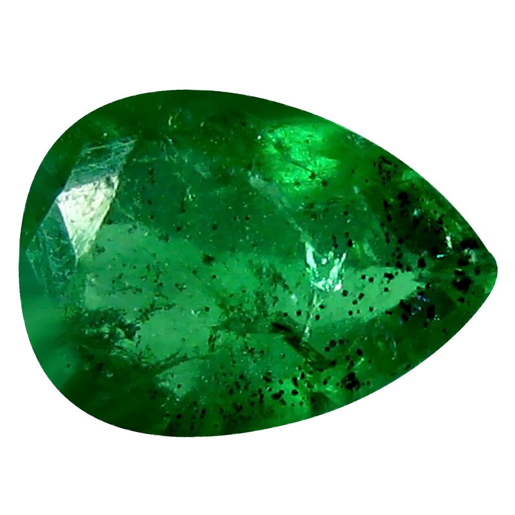 0.24 ct Gorgeous Pear Cut (5 x 4 mm) Green 100% Natural (Un-Heated) Emerald Natural Gemstone