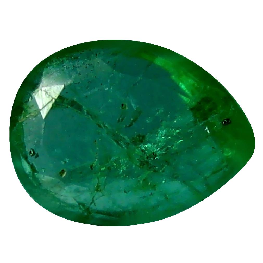 0.37 ct Incredible Pear Cut (6 x 4 mm) Green 100% Natural (Un-Heated) Emerald Natural Gemstone