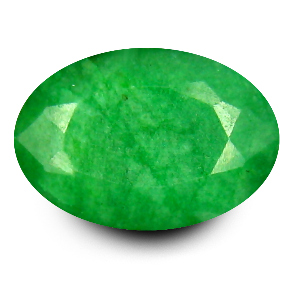 5 22 Ct Eye Popping Oval Shape 13 X 9 Mm Green Emerald