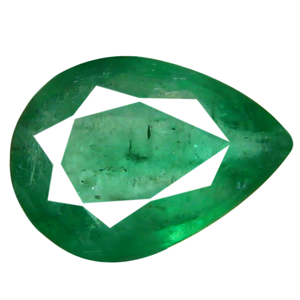 0.50 ct Significant Pear Cut (7 x 5 mm) Colombian Emerald Natural Gemstone