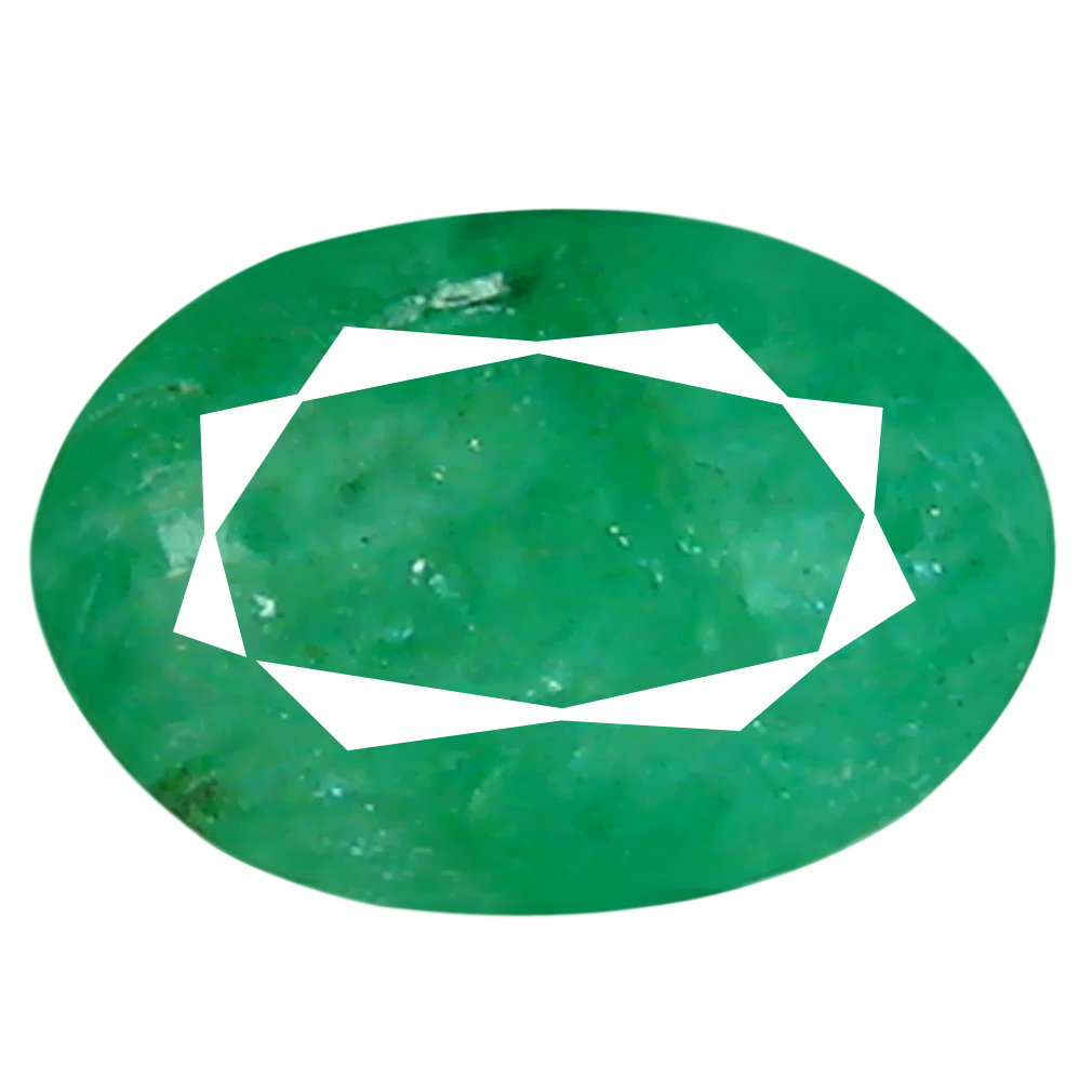 0.37 ct Remarkable Oval Cut (6 x 4 mm) Colombian Emerald Natural Gemstone