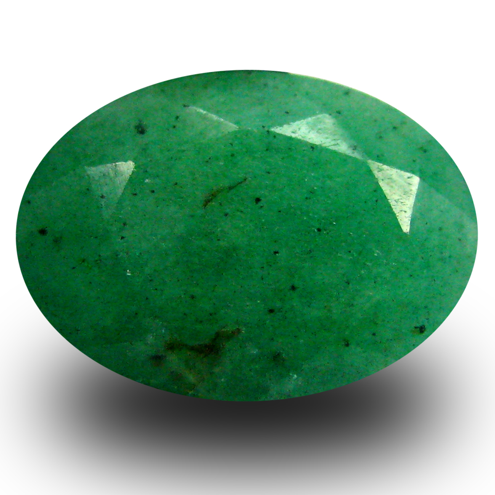 3.47 ct  Valuable Oval Shape (12 x 9 mm) Green Emerald Natural Gemstone