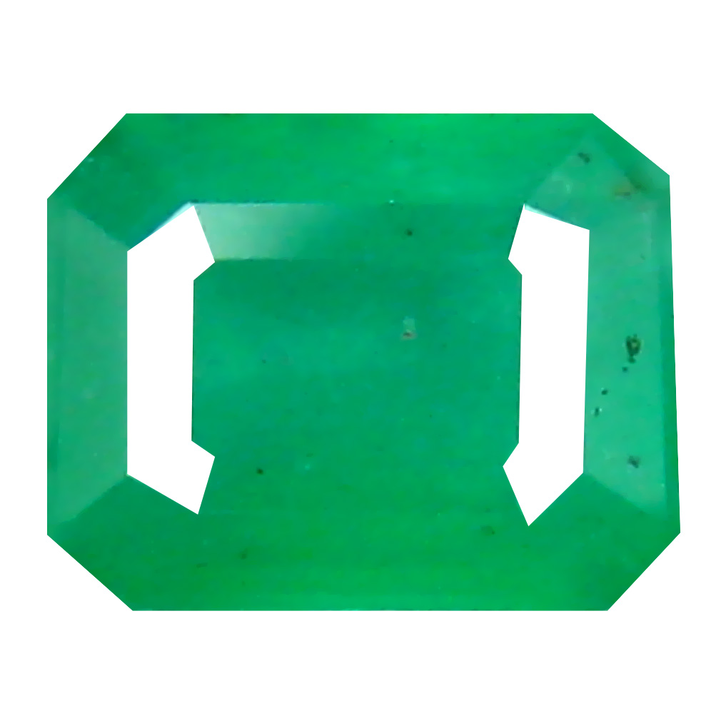0.49 ct Eye-catching Octagon Cut (5 x 4 mm) Colombian Emerald Natural Gemstone
