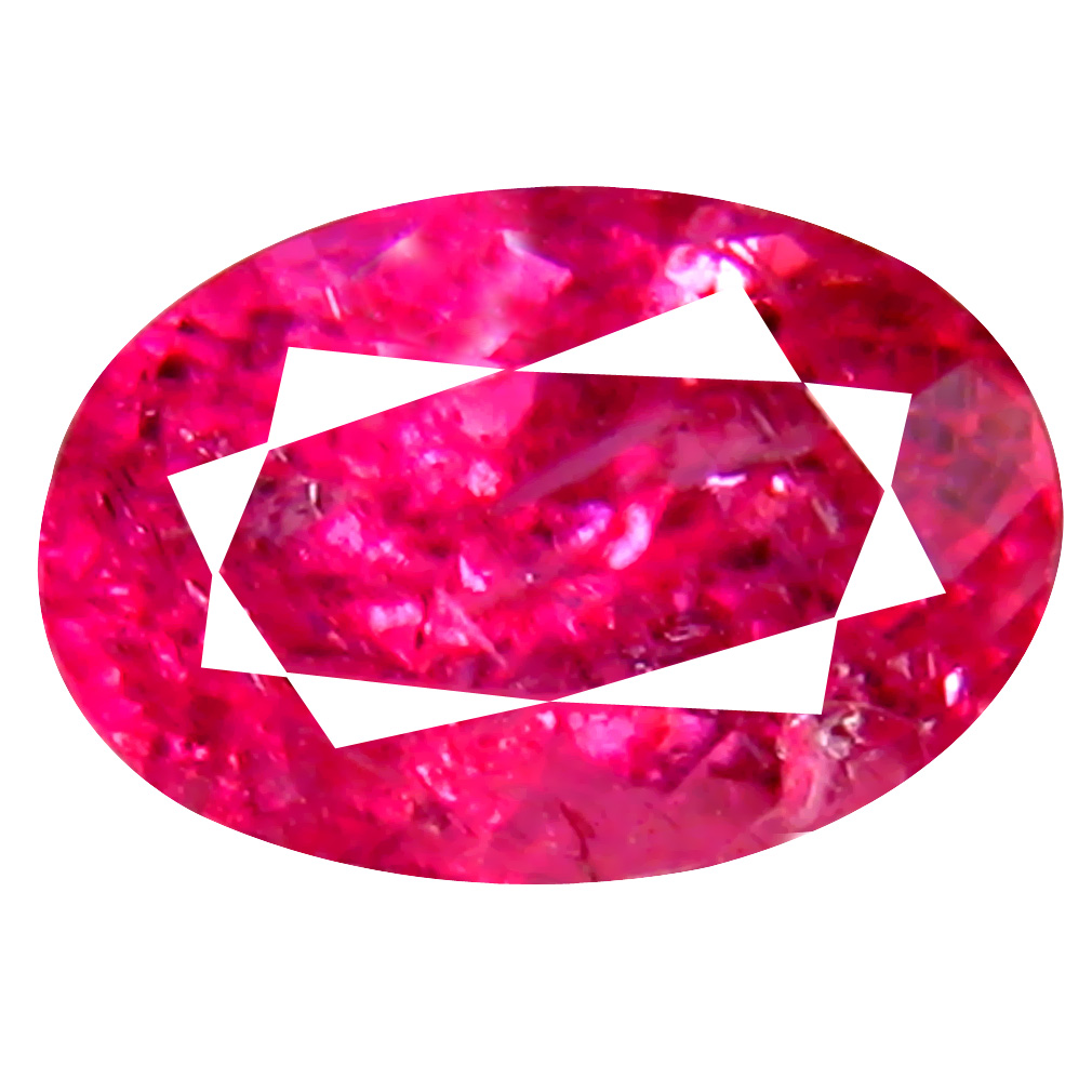 1.15 ct AAA+ Marvelous Oval Shape (8 x 5 mm) Reddish Pink Rubellite Tourmaline Natural Gemstone