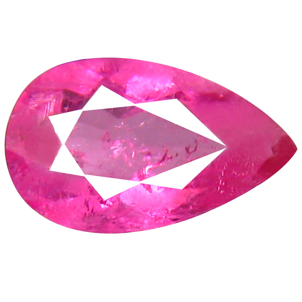 0.86 ct AAA+ Tremendous Pear Shape (9 x 5 mm) Reddish Pink Rubellite Tourmaline Natural Gemstone