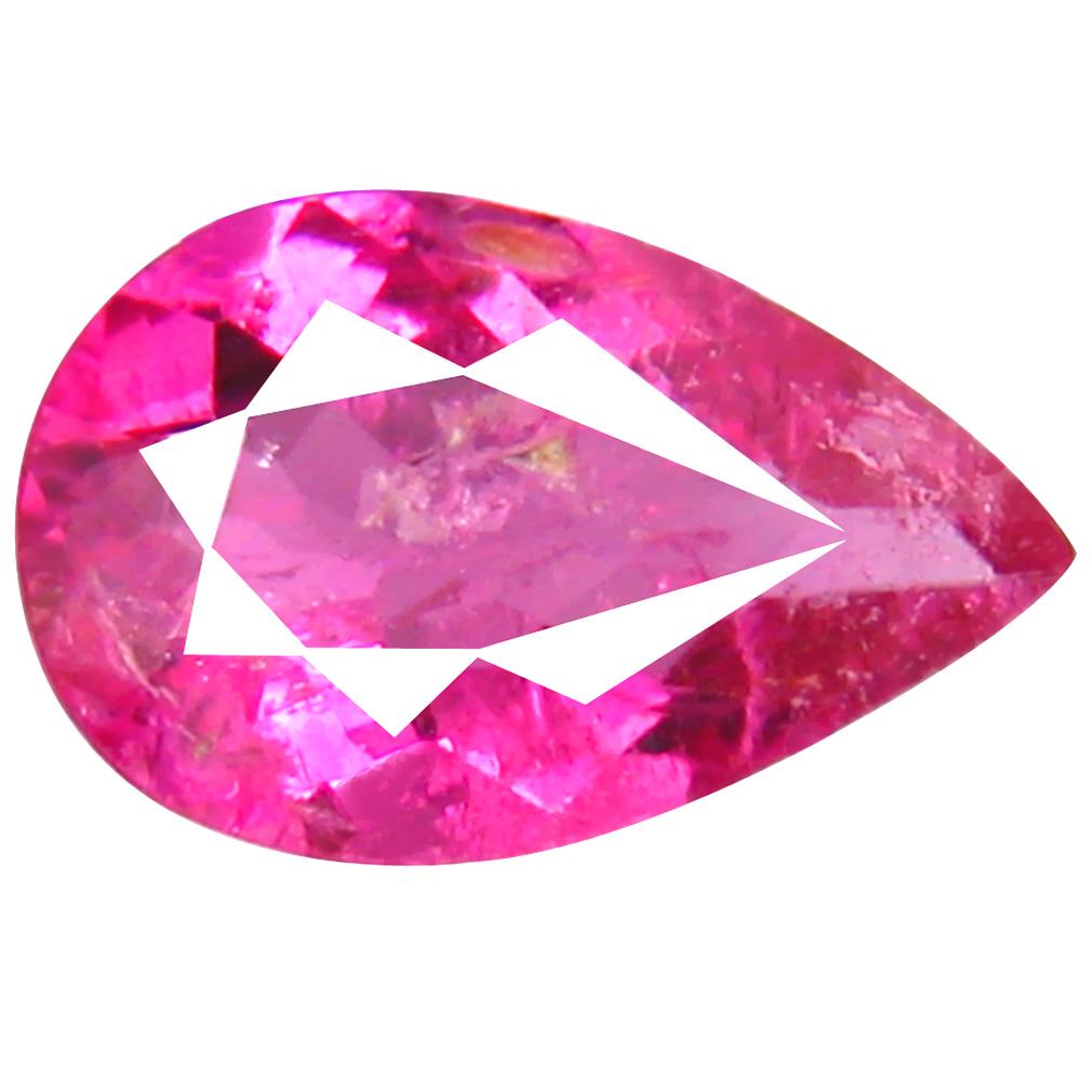 0.76 ct AAA+ Outstanding Pear Shape (8 x 5 mm) Reddish Pink Rubellite Tourmaline Natural Gemstone