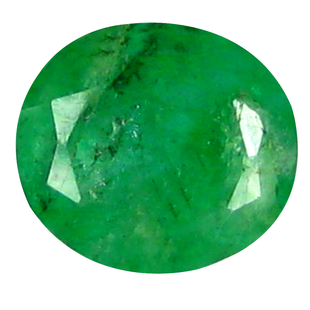 0.63 ct DAZZLING OVAL CUT (6 X 5 MM) COLOMBIAN EMERALD NATURAL GEMSTONE