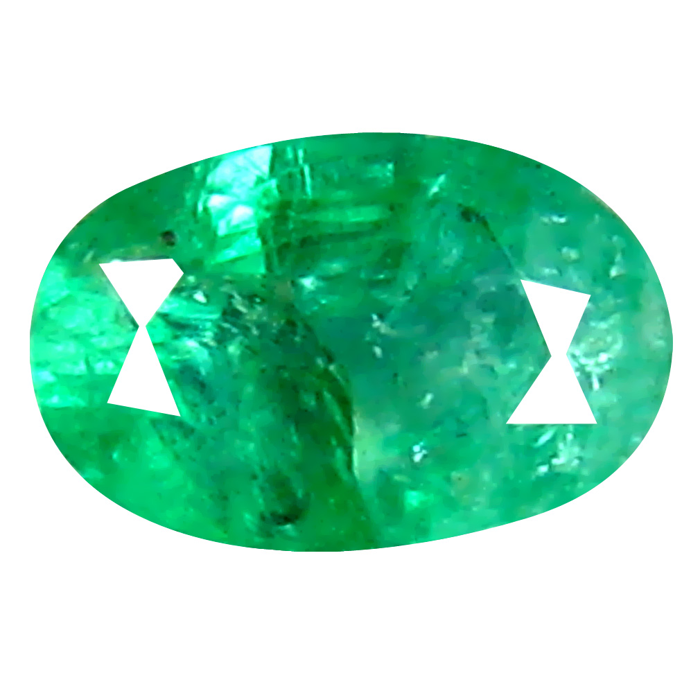 0.38 ct Eye-catching Oval Cut (5 x 4 mm) Colombian Emerald Natural Gemstone