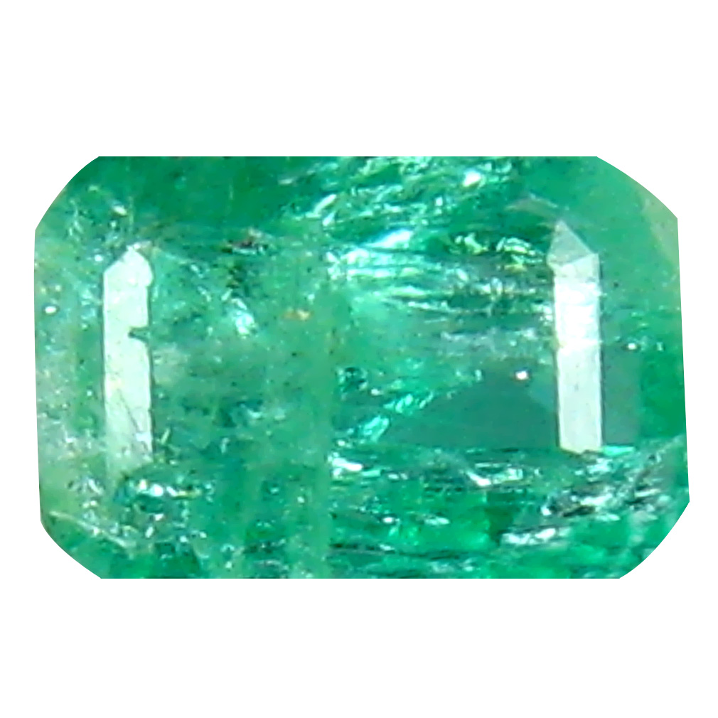 0.62 ct Sparkling Emerald Cut (6 x 4 mm) Colombian Emerald Natural Gemstone